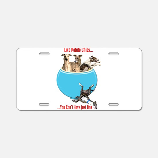 Greyhounds Like Potato Chip Aluminum License Plate