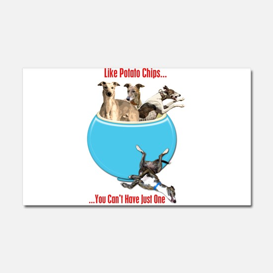 Greyhounds Like Potato Chips Car Magnet 20 x 12