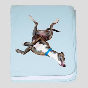Cockroaching Greyhound baby blanket