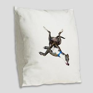 Cockroaching Greyhound Burlap Throw Pillow