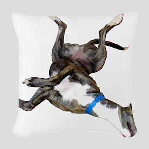 Cockroaching Greyhound Woven Throw Pillow