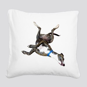 Cockroaching Greyhound Square Canvas Pillow