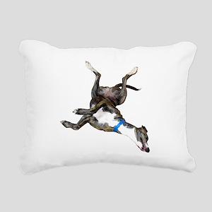 Cockroaching Greyhound Rectangular Canvas Pillow