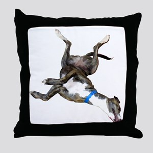 Cockroaching Greyhound Throw Pillow