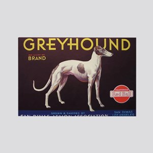 Greyhound Fruit Crate Label Magnets