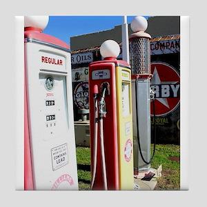 Route 66 gas pumps. Tile Coaster