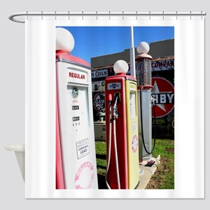 Route 66 gas pumps. Shower Curtain