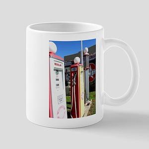Route 66 gas pumps. Mugs