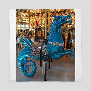 Carousel Seahorse Queen Duvet