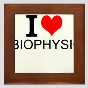 I Love Biophysics Framed Tile