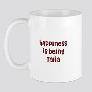 happiness is being Talia Mug