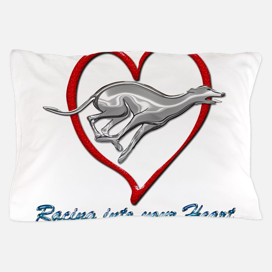 Greyhound Racing into your Heart Pillow Case