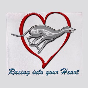 Greyhound Racing into your Heart Throw Blanket