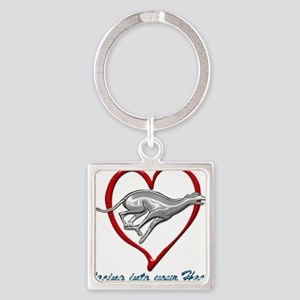 Greyhound Racing into your Heart Keychains