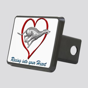 Greyhound Racing into your Rectangular Hitch Cover