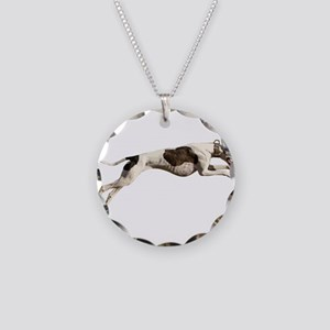 Run Like the Wind Necklace Circle Charm