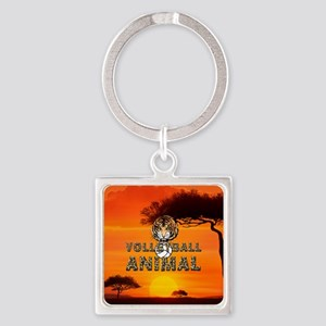 Volleyball Animal Square Keychain Keychains