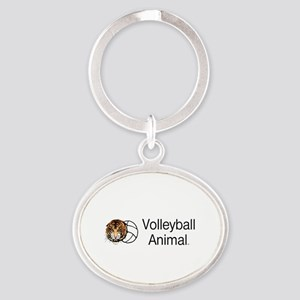 Volleyball Animal Oval Keychain Keychains