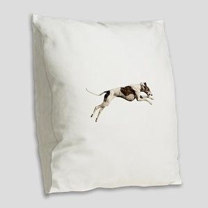 Run Like the Wind Burlap Throw Pillow