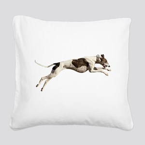 Run Like the Wind Square Canvas Pillow