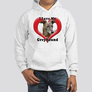 I love my Greyhound logo Hooded Sweatshirt
