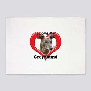 I love my Greyhound logo 5'x7'Area Rug