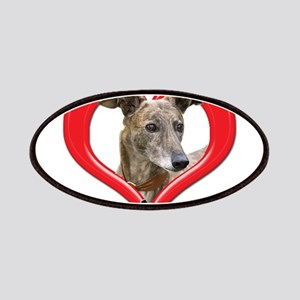 I love my Greyhound logo Patch