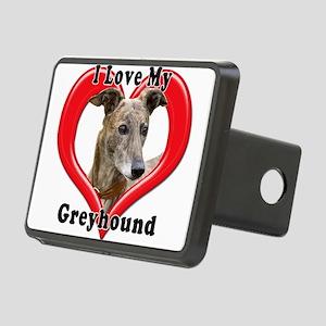 I love my Greyhound logo Rectangular Hitch Cover