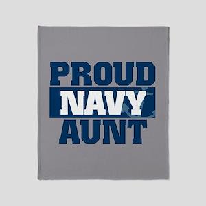 US Navy Proud Navy Aunt Throw Blanket