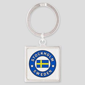 Stockholm Square Keychain