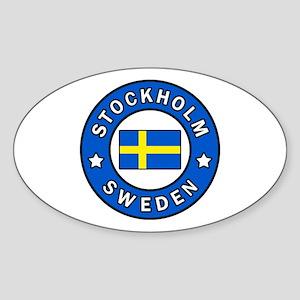 Stockholm Sticker (Oval)