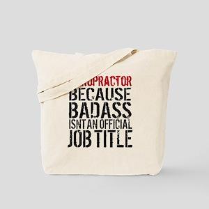 Chiropractor Badass Tote Bag