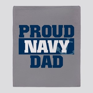 US Navy Proud Navy Uncle fb Throw Blanket