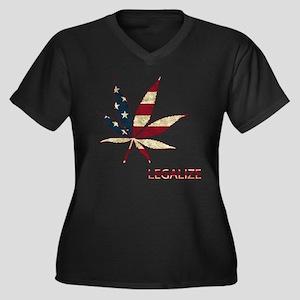 Marijuana Leaf Plus Size T-Shirt