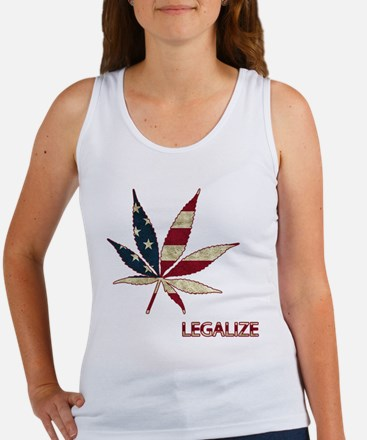 Marijuana Leaf Tank Top