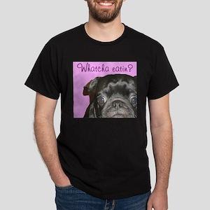 Whatcha Eatin? Black Pug Men's Dark T-Shirt