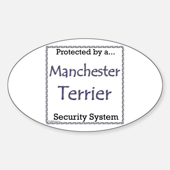 Manchester Security Oval Decal
