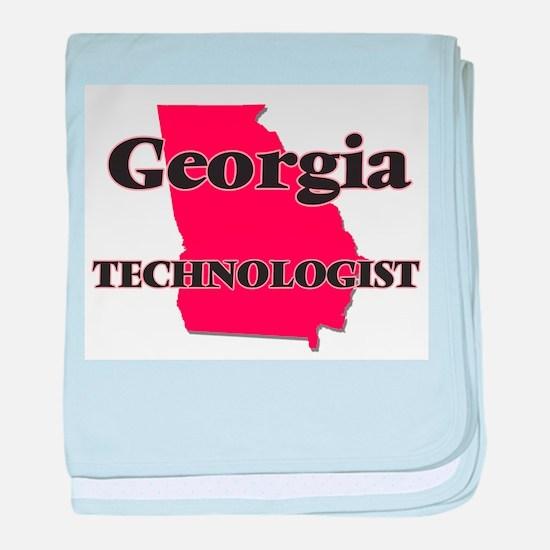 Georgia Technologist baby blanket