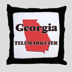 Georgia Telemarketer Throw Pillow