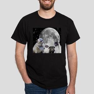 Four Pug Moon Men's Dark T-Shirt