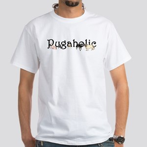 Pugaholic Men's White T-Shirt