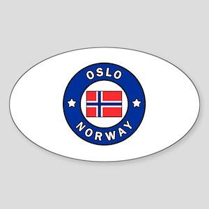Oslo Norway Sticker (Oval)