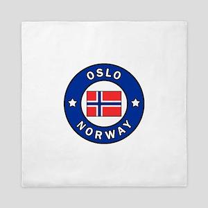 Oslo Norway Queen Duvet