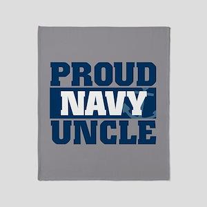 US Navy Proud Navy Uncle Throw Blanket