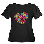 Love & Peace in Heart Women's Plus Size Scoop Neck