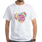 Love & Peace in Heart White T-Shirt