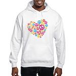 Love & Peace in Heart Hooded Sweatshirt