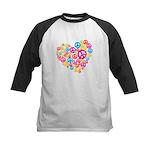 Love & Peace in Heart Kids Baseball Jersey