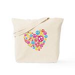 Love & Peace in Heart Tote Bag
