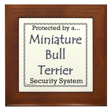 Mini Bull Security Framed Tile